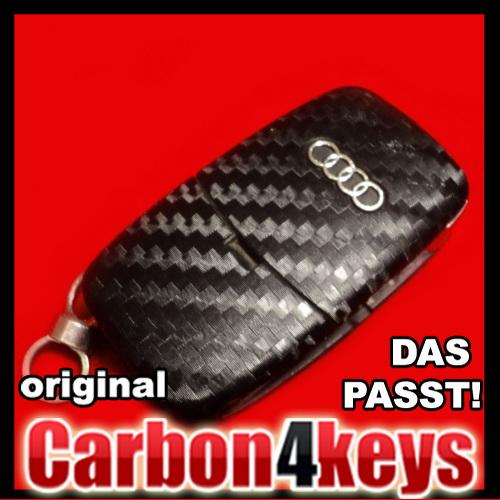 Carbon4Key-fuer-Audi-A1-A2-A3-S3-8L-A4-8e-S4-A6-4B-TT-8N-Klapp-Schluessel-Dekor
