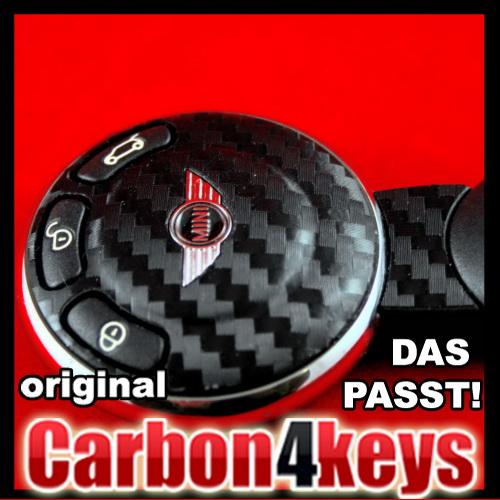 Carbone-4key-pour-mini-r56-JCW-John-Cooper-Works-Funk-cle-decor-Key-cle