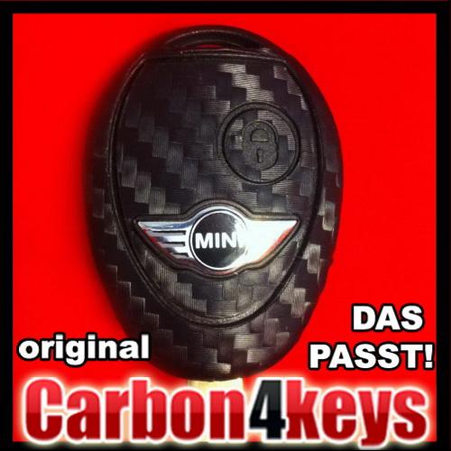 carbon4key f r mini cooper s one d clubman cabrio 2 tasten. Black Bedroom Furniture Sets. Home Design Ideas
